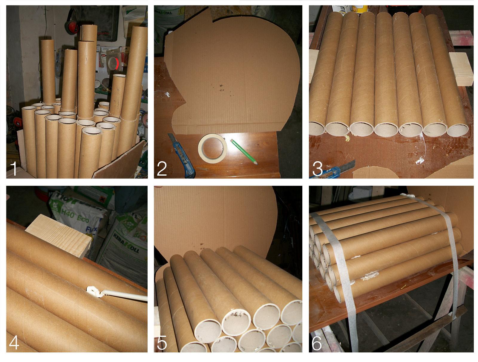 Famoso I molteplici ricicli realizzati da semplici tubi di cartone MD08