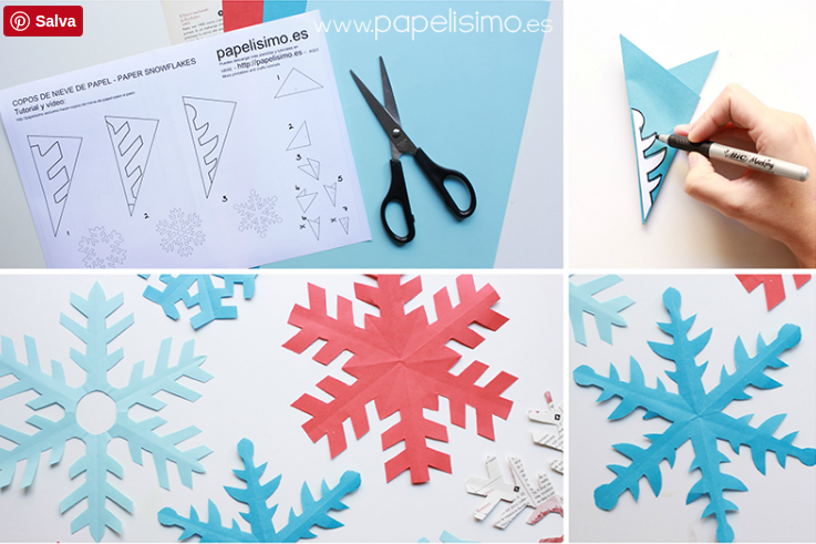 Vuoi imparare a realizzare i fiocchi di neve di carta? Guarda questo ...