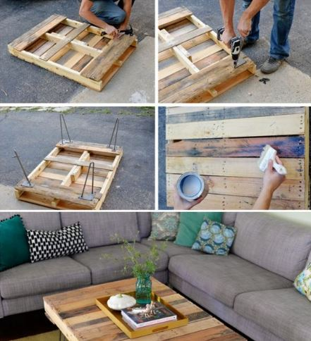 Idee e ispirazioni: Tavoli e tavolini con solo materiale di riciclo