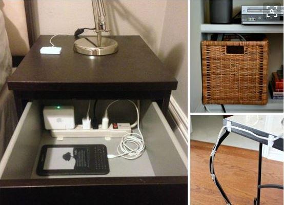 Come organizzare e nascondere al meglio i brutti cavi dei - Nascondere soldi in casa ...